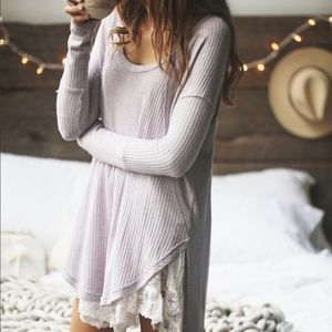 Free People Long Sleeve Thermal Tee XS